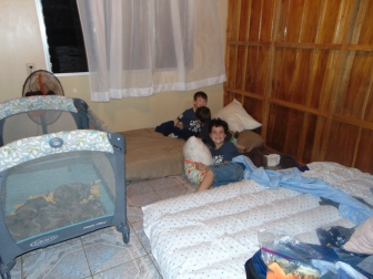 The boys' room. Soon we will get hand-me-down bunk beds from our missionaries in Coopevaga
