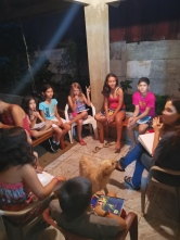 English class with the neighborhood kids